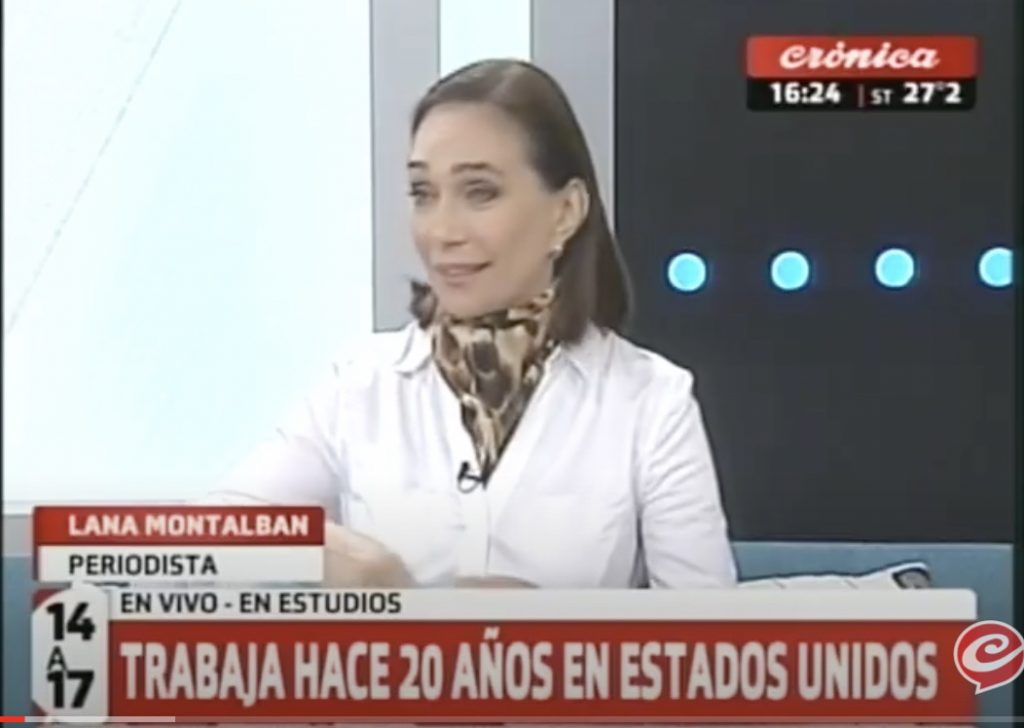 Nota en Cronica TV en 2017