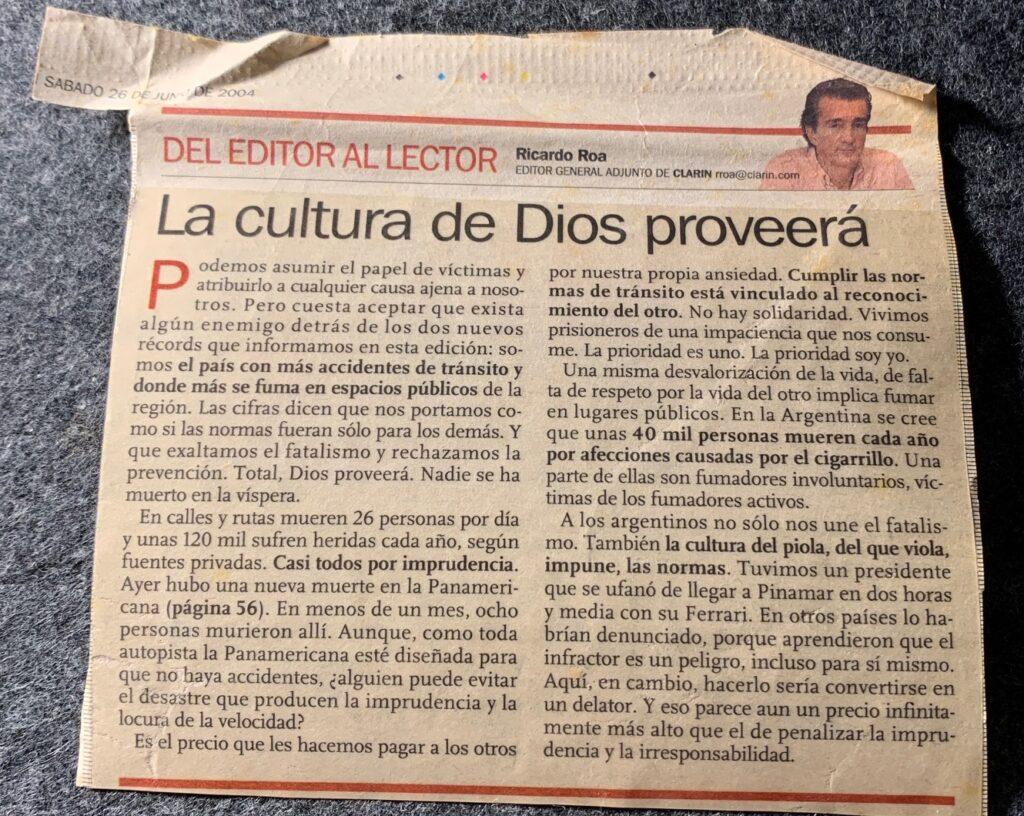 Articulo de 2004 Con Una Actualidad Escalofriante